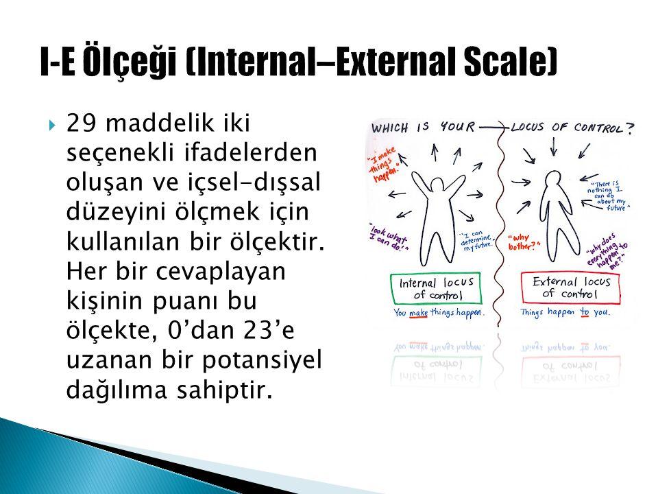 I-E Ölçeği (Internal–External Scale)