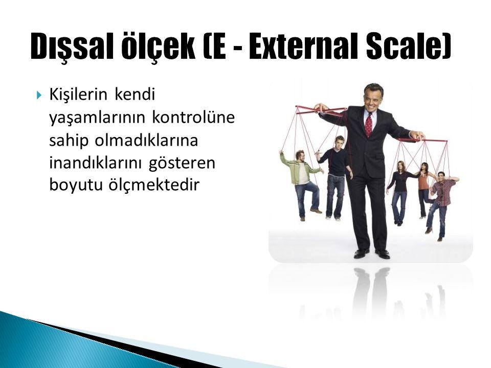 Dışsal ölçek (E - External Scale)
