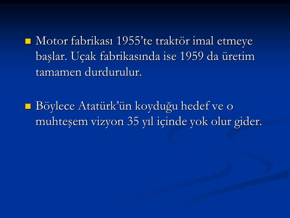 Motor fabrikası 1955'te traktör imal etmeye başlar
