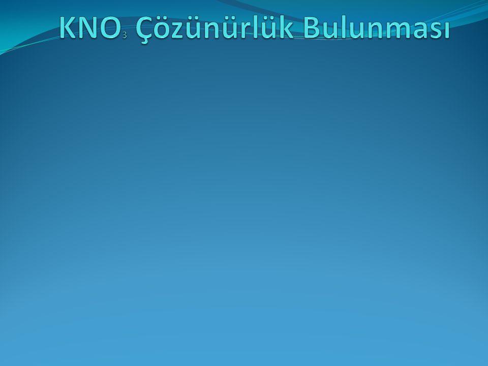 KNO3 Çözünürlük Bulunması