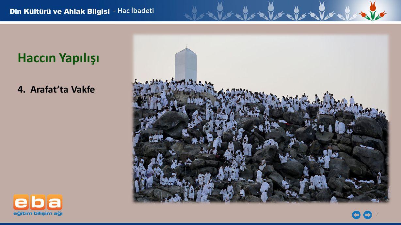 - Hac İbadeti Haccın Yapılışı 4. Arafat'ta Vakfe