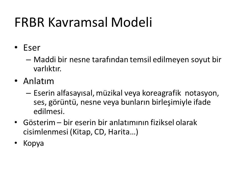 FRBR Kavramsal Modeli Eser Anlatım