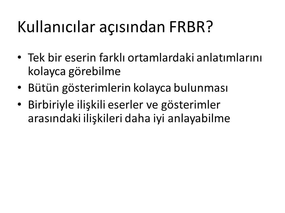 Kullanıcılar açısından FRBR