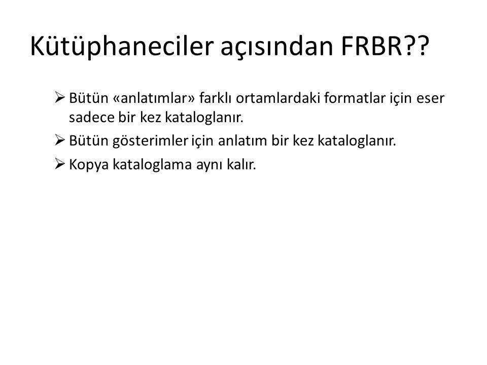 Kütüphaneciler açısından FRBR