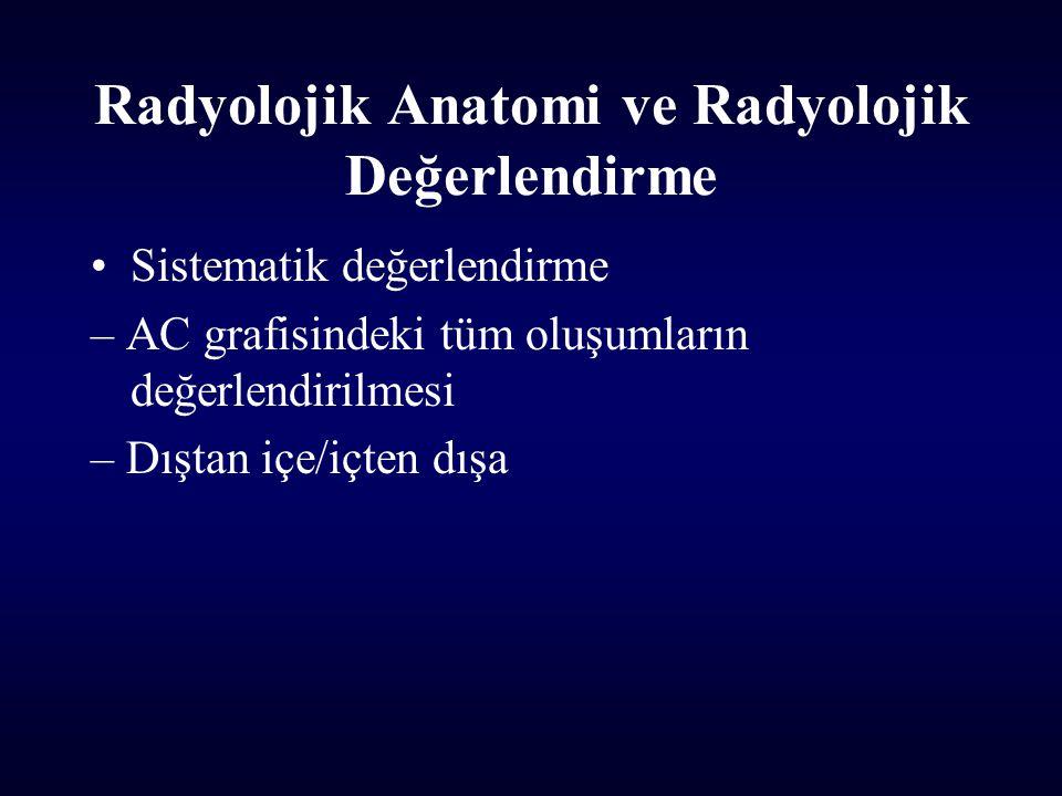 Radyolojik Anatomi ve Radyolojik Değerlendirme