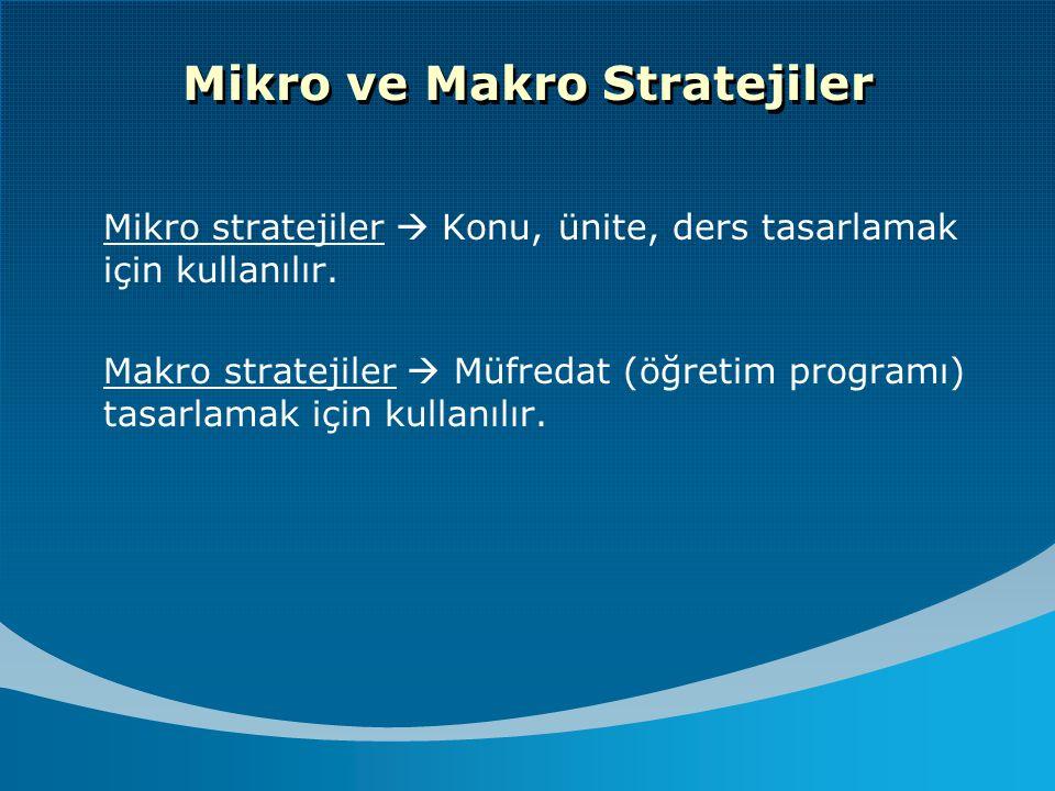 Mikro ve Makro Stratejiler