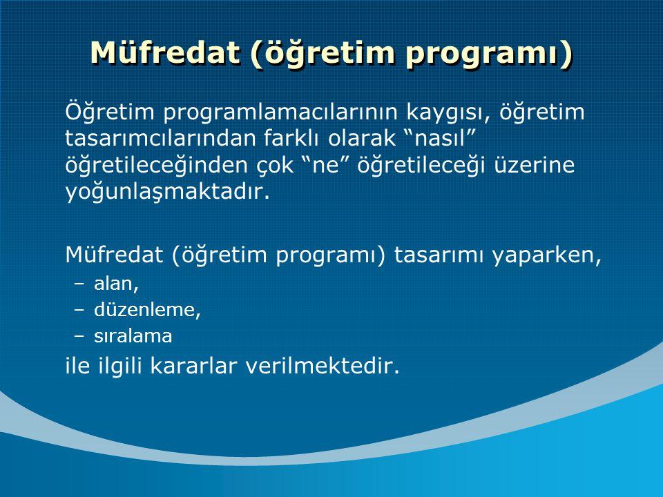 Müfredat (öğretim programı)