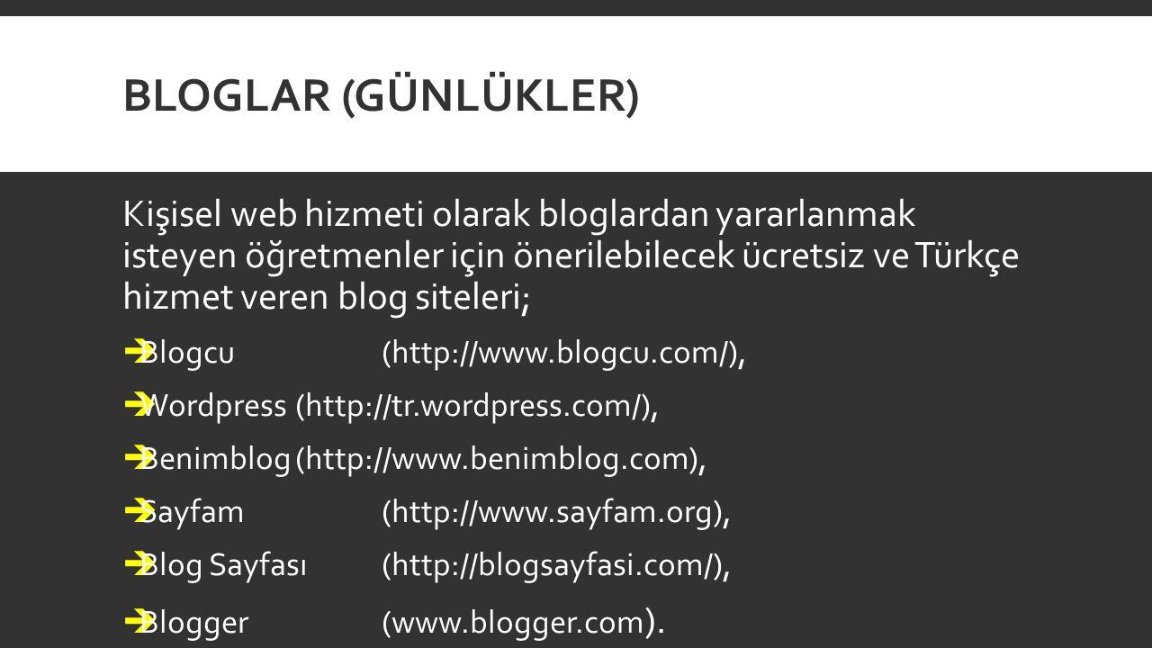 Bloglar (Günlükler)