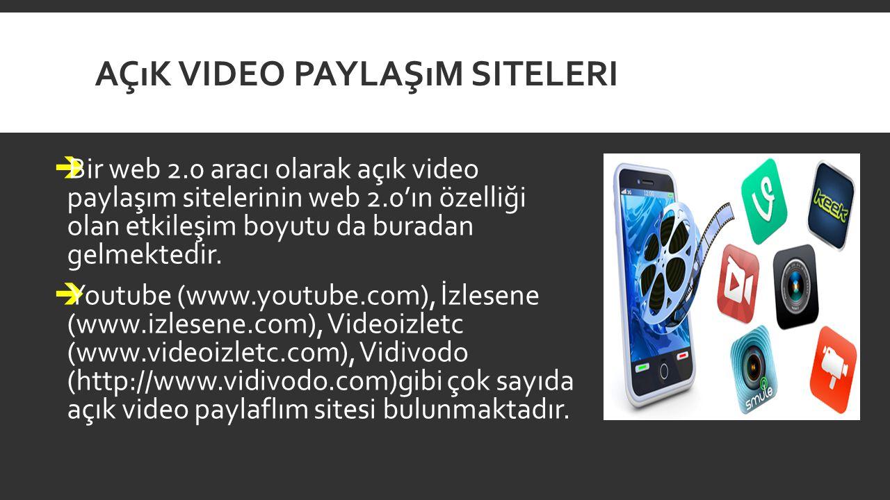 Açık Video Paylaşım Siteleri