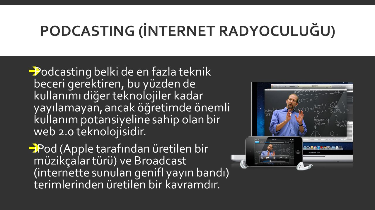 Podcasting (İnternet Radyoculuğu)