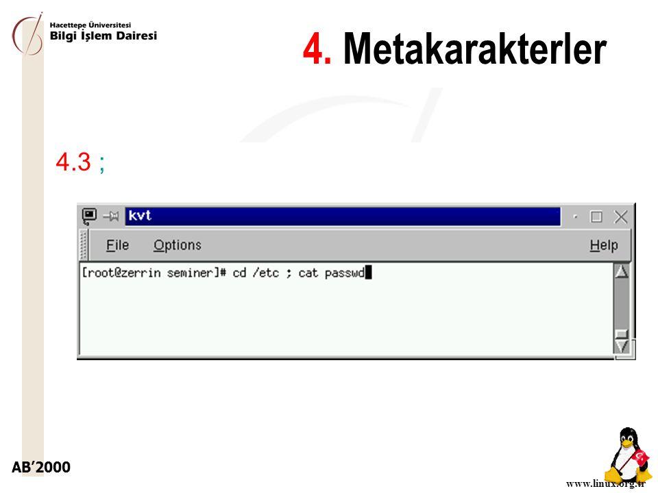 4. Metakarakterler 4.3 ;