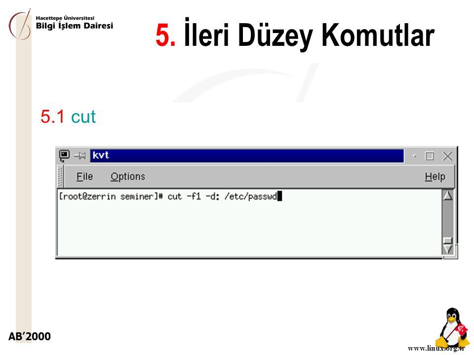5. İleri Düzey Komutlar 5.1 cut