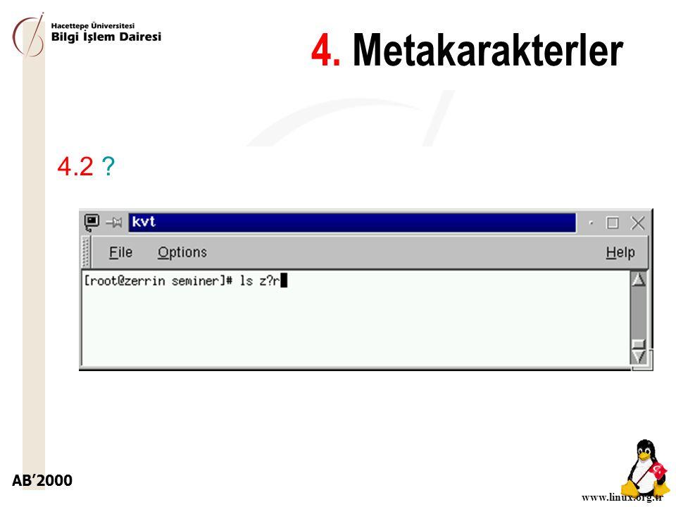 4. Metakarakterler 4.2