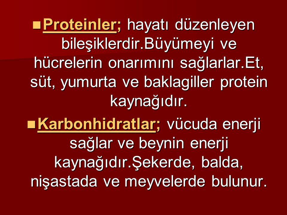 Proteinler; hayatı düzenleyen bileşiklerdir