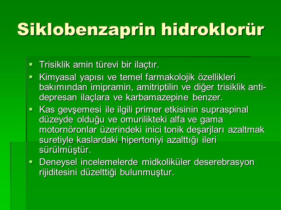 Siklobenzaprin hidroklorür