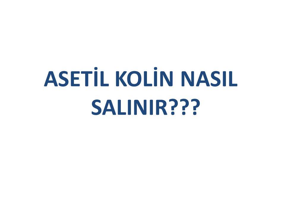 ASETİL KOLİN NASIL SALINIR