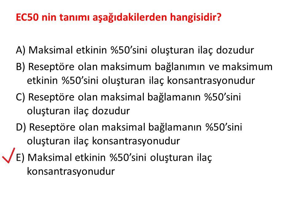 EC50 nin tanımı aşağıdakilerden hangisidir