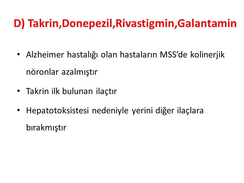 D) Takrin,Donepezil,Rivastigmin,Galantamin