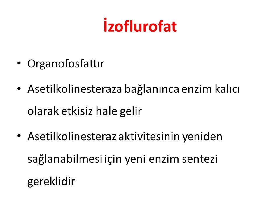 İzoflurofat Organofosfattır