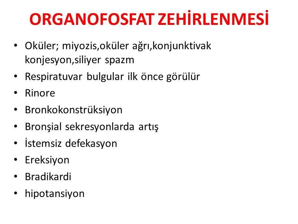 ORGANOFOSFAT ZEHİRLENMESİ