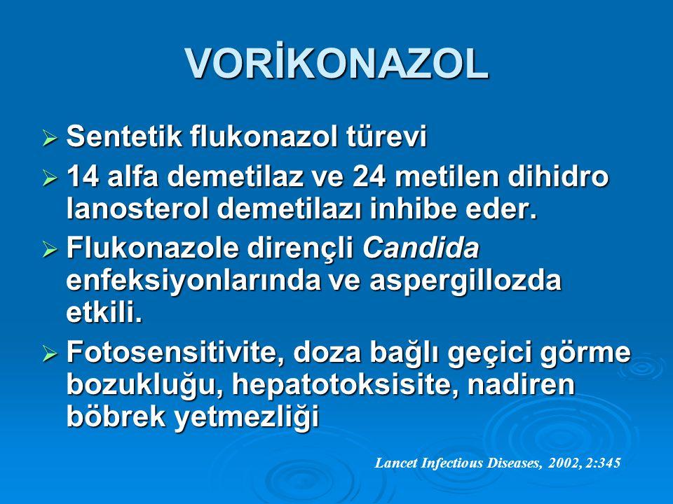 VORİKONAZOL Sentetik flukonazol türevi