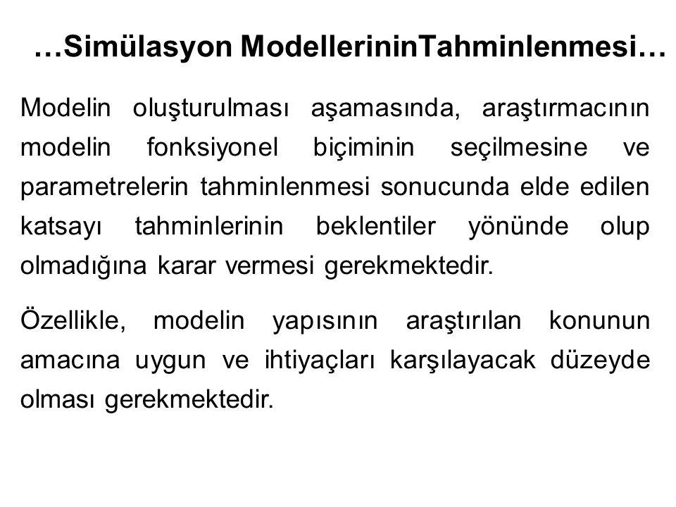 …Simülasyon ModellerininTahminlenmesi…