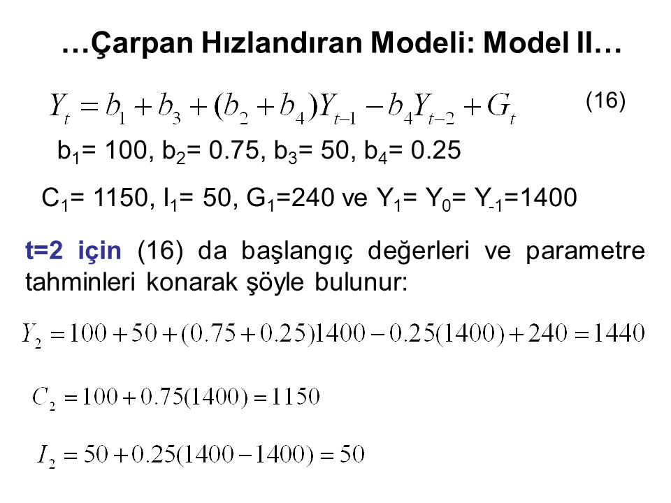 …Çarpan Hızlandıran Modeli: Model II…
