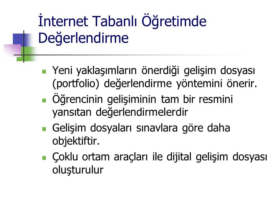 İnternet Tabanlı Öğretimde Değerlendirme