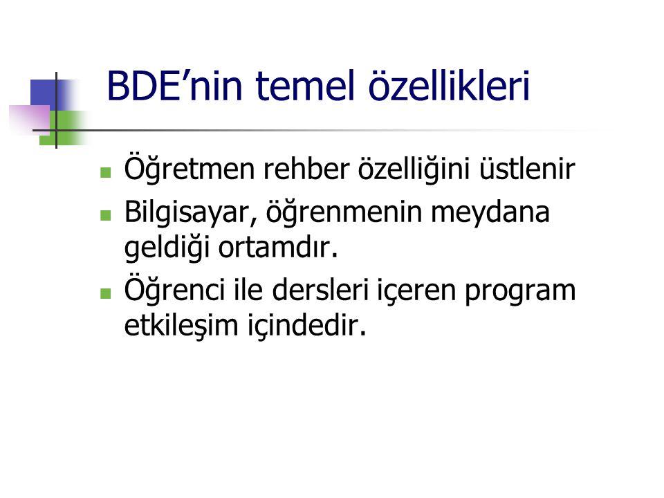 BDE'nin temel özellikleri