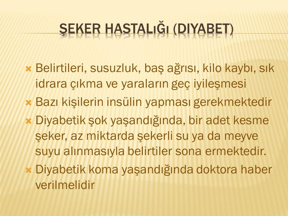 Şeker hastalığı (diyabet)