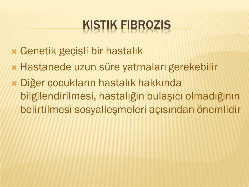 Kistik fibrozis Genetik geçişli bir hastalık