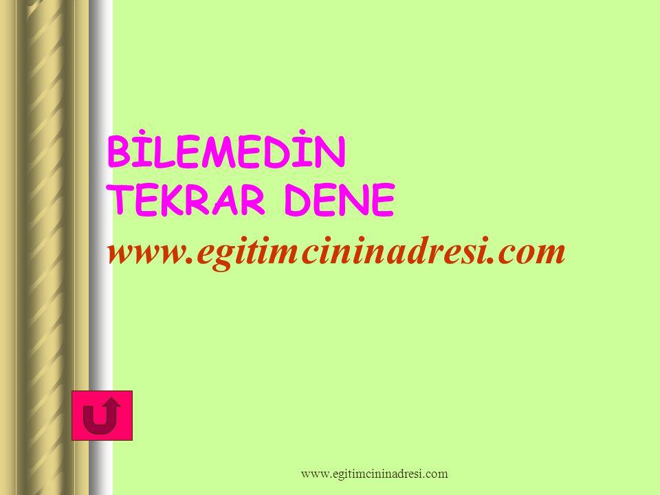 BİLEMEDİN TEKRAR DENE www.egitimcininadresi.com