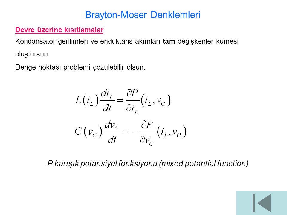 Brayton-Moser Denklemleri