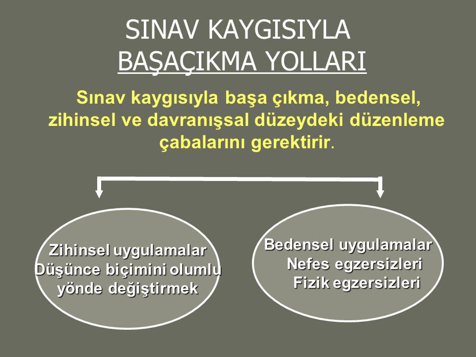 SINAV KAYGISIYLA BAŞAÇIKMA YOLLARI