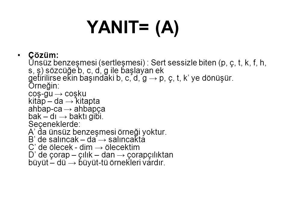 YANIT= (A)