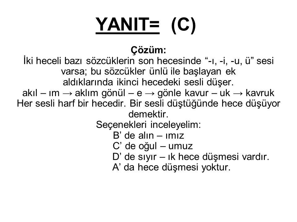 YANIT= (C)
