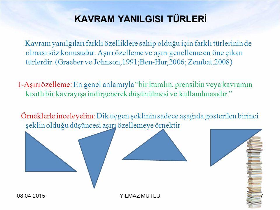 KAVRAM YANILGISI TÜRLERİ