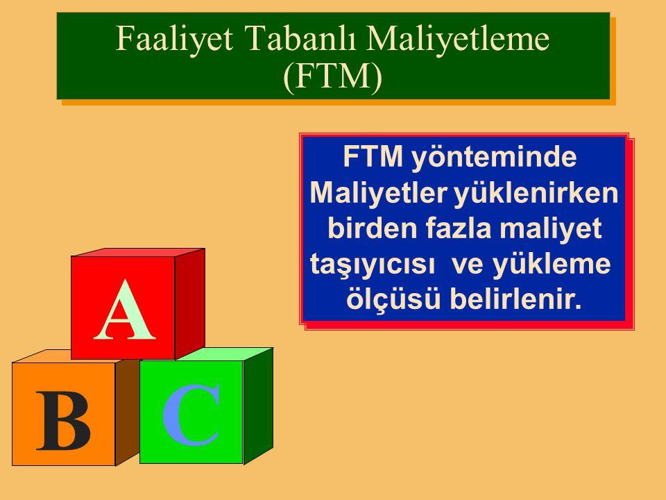 Faaliyet Tabanlı Maliyetleme (FTM)