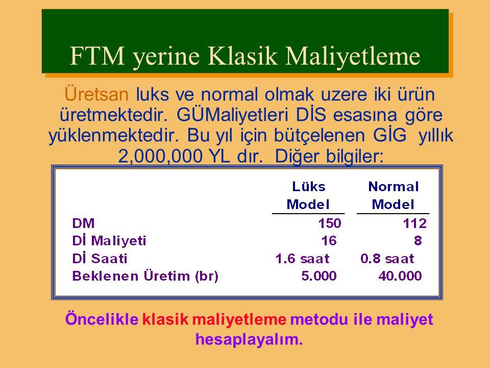 FTM yerine Klasik Maliyetleme