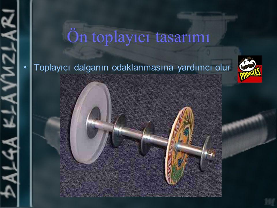 Ön toplayıcı tasarımı Toplayıcı dalganın odaklanmasına yardımcı olur