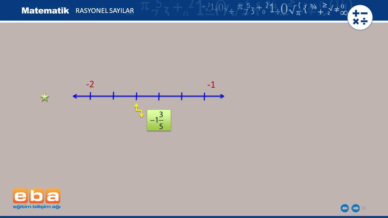 RASYONEL SAYILAR -2 -1