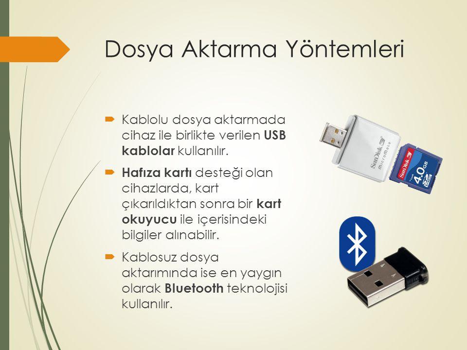 Dosya Aktarma Yöntemleri