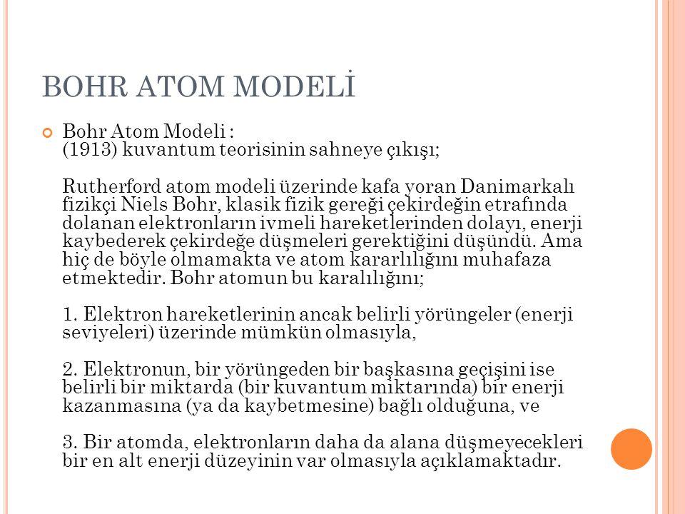 BOHR ATOM MODELİ