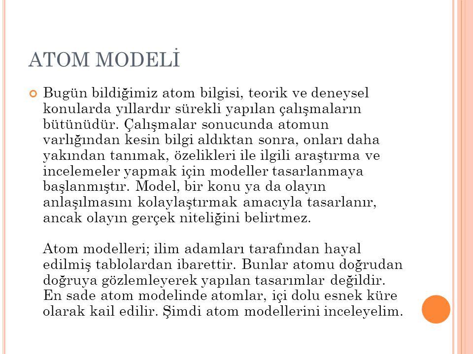 ATOM MODELİ