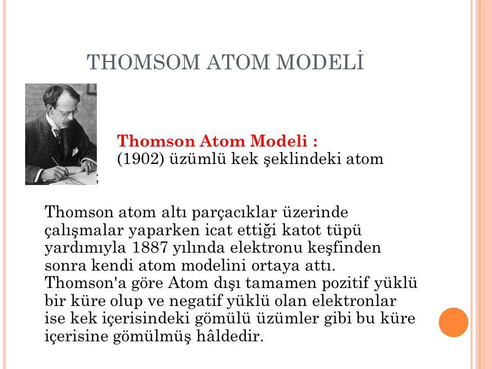 THOMSOM ATOM MODELİ