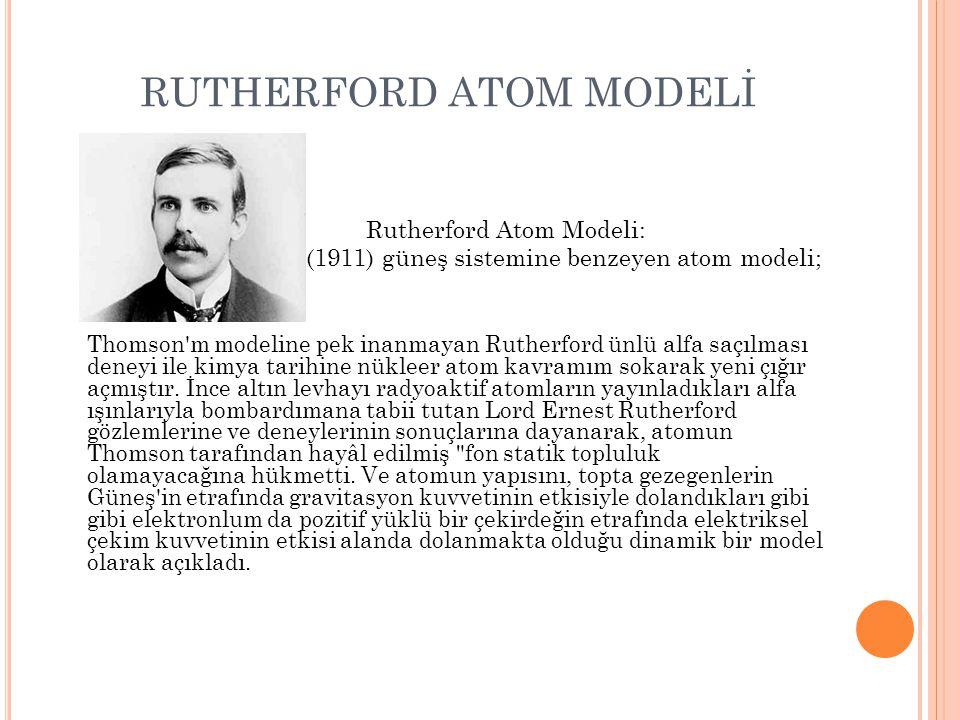 RUTHERFORD ATOM MODELİ
