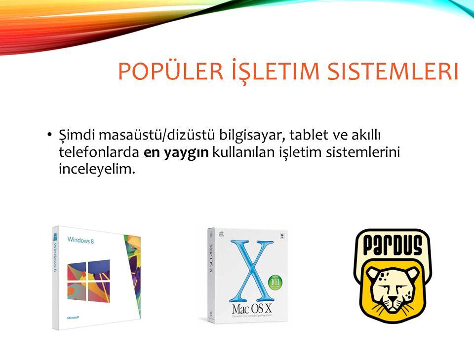 Popüler İşletim Sistemleri