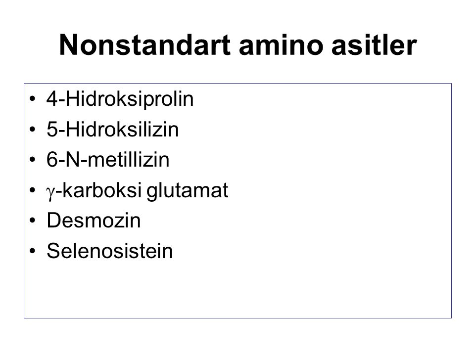 Nonstandart amino asitler