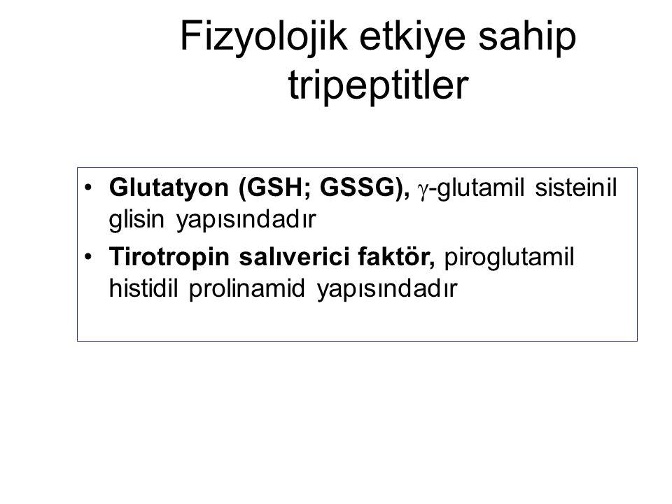 Fizyolojik etkiye sahip tripeptitler
