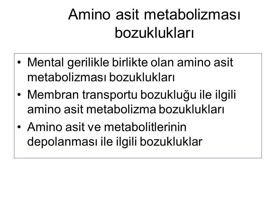 Amino asit metabolizması bozuklukları